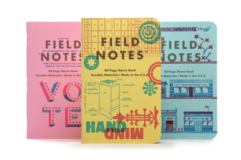 Field Notes United States of Letterpress Pack C