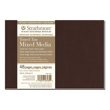 Strathmore Soft-Cover Mixed Media Toned Art Journals 400 Series