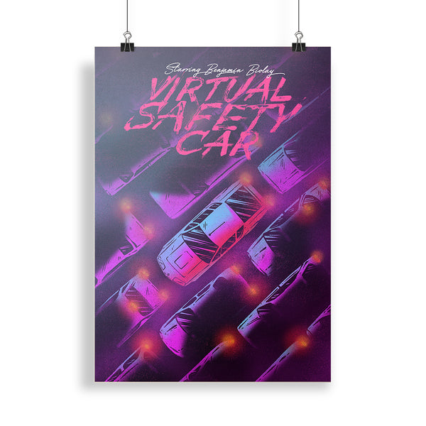 "Pack CD Digipack + Affiche Dédicacée ""Virtual Safety Car"""