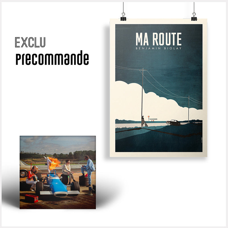 "Pack CD Digipack + Affiche Dédicacée ""Ma route"""