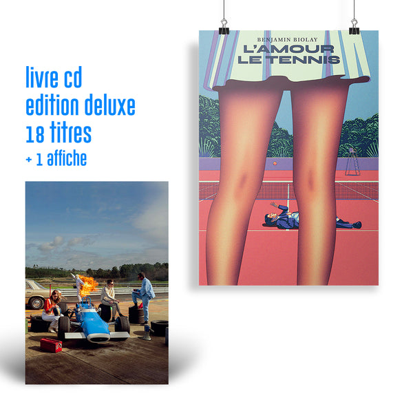 Pack Livre CD + Affiche « L'amour, le tennis »