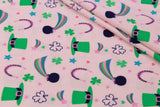 "St. Patrick's Day Themed Brushed Jersey 60"" Wide"