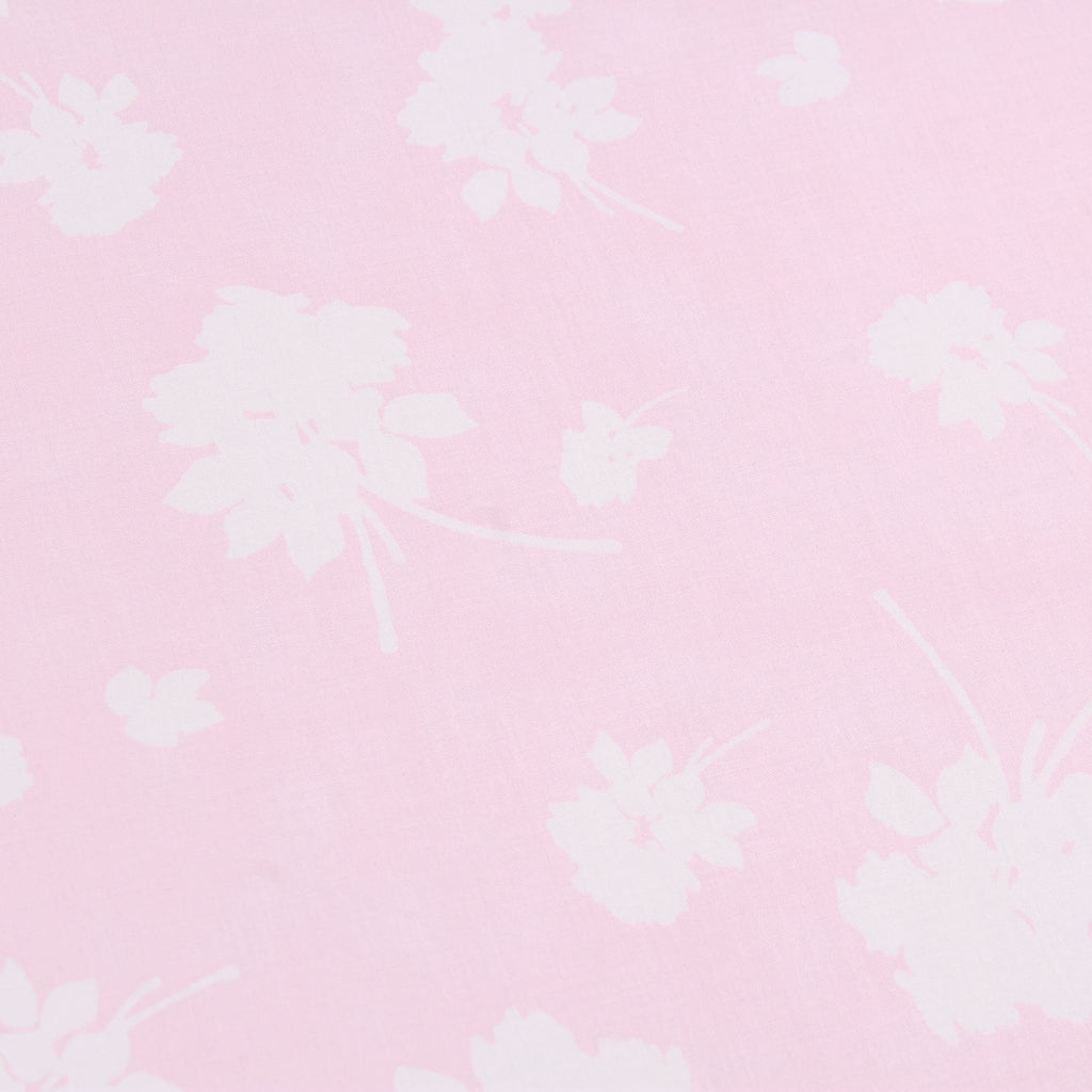 "100% Cotton Lawn, Floral Silhouette, Summer, Pink, 58"" Wide"