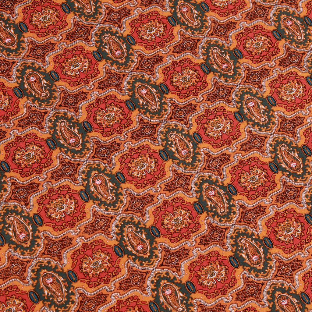"100% Cotton Lawn, Paisley Block, Summer, 58"" Wide"