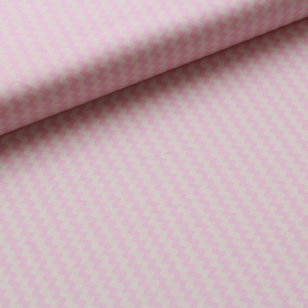 TFG Quilting Cotton, Basic Essentials, Light Pink Chevron