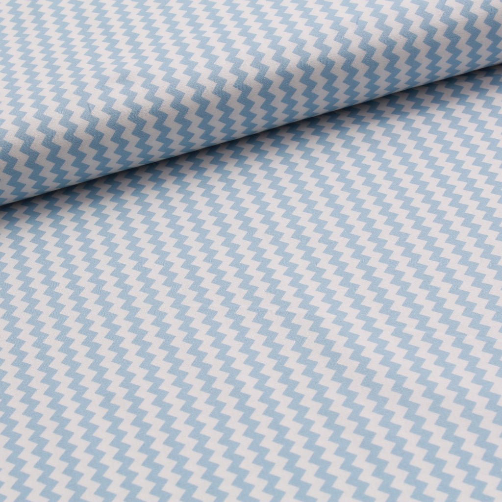 TFG Quilting Cotton, Basic Essentials, Blue Chevron