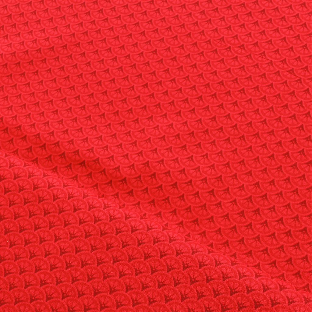 JOANN Mermaid Shells-Red Cotton Poplin