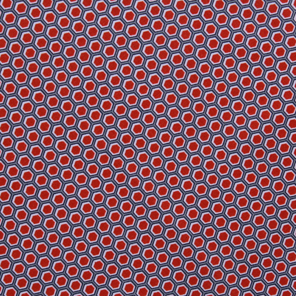 "Hexagon Geometric, 100% Printed Cotton, 63"" Wide"