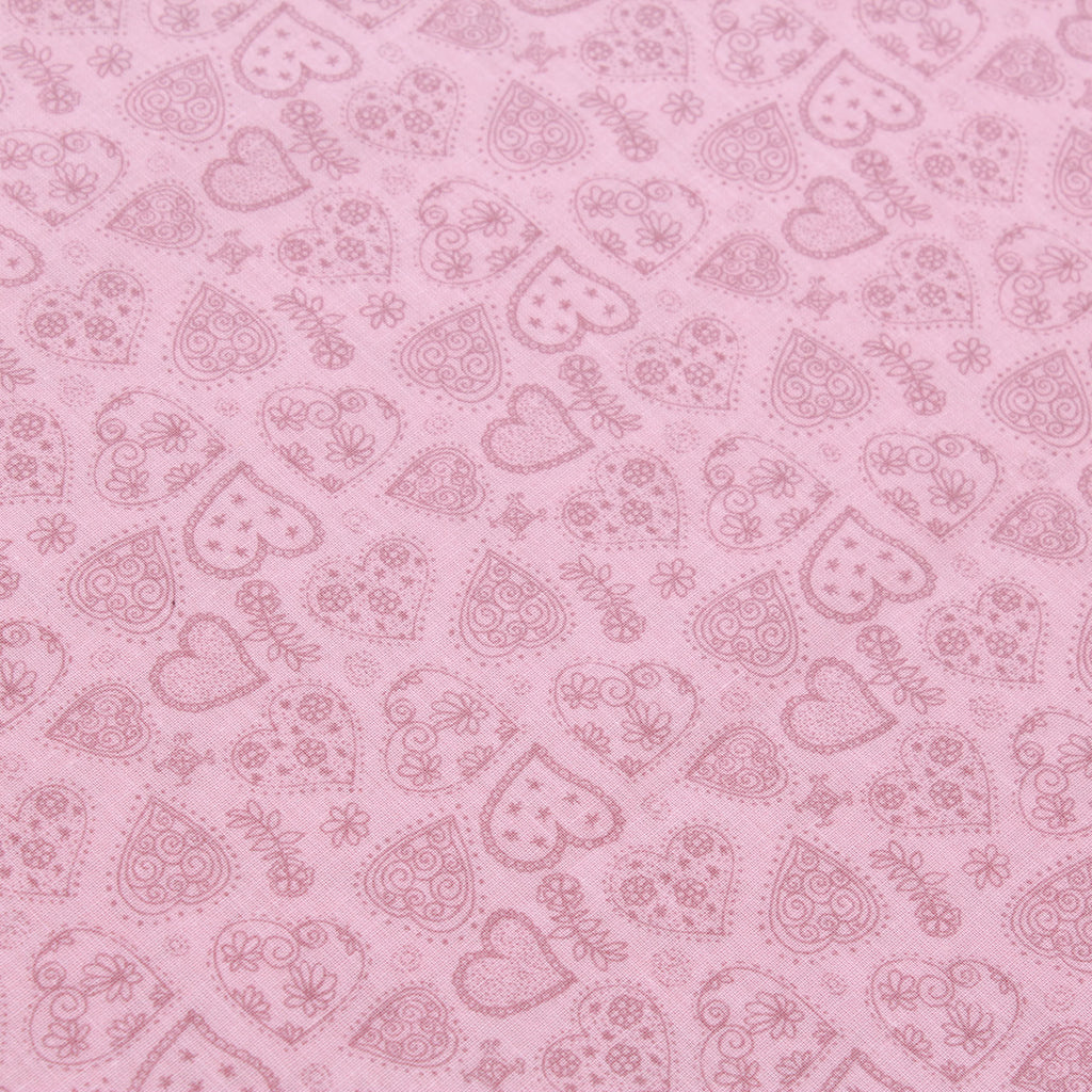 "Love Heart Floral, 100% Printed Cotton, 63"" Wide"