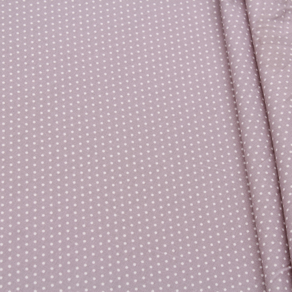 TFG Quilting Cotton, Basic Essentials, White Spots on Grey