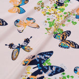 "Butterfly Garden Cream, 100% Polyester Printed Peachskin, 60GSM, Approx 60"" Wide (150cm)"