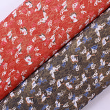 "100% Cotton Foil Flying Swan Japanese Fabric 60"" Wide"