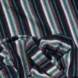 "Cotton Stripe Jersey. 95% Cotton 5% Spandex. High Quality. Approx. 64"" (165cm) Wide. - Green/Multi Colour"