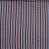 "Cotton Stripe Jersey. 95% Cotton 5% Spandex. High Quality. Approx. 64"" (165cm) Wide. - Turquoise/Multi Colour"