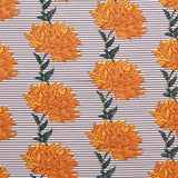 "Cotton Poplin Striped Dandelion Floral 44"" Wide (112cm)"