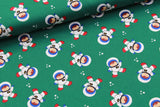 Dark Green Astronaut Quilting Cotton, FF284-2, Lost In Space Collection, Premium Cotton