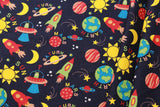 Spaceship Navy Quilting Cotton, FF282-1, Lost In Space Collection, Premium Cotton