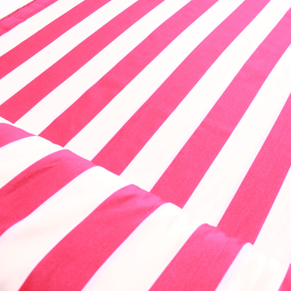 Stripes, 100% Polyester Peachskin