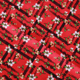 "Floral Plaid, 100% Cotton Poplin, Approx. 44"" (112cm) Wide"