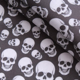 Premium Quilting Cotton, Smiling Skulls, Halloween Collection