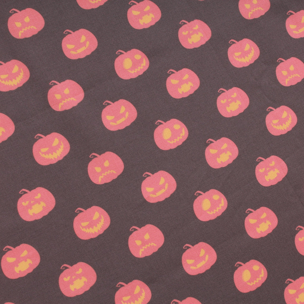 Premium Quilting Cotton, Angry Pumpkin, Halloween Collection