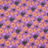 Premium Quilting Cotton, Black Cats & Pumpkins, Halloween Collection