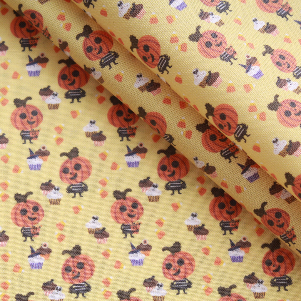 Premium Quilting Cotton, Cupcake Pumpkin, Halloween Collection