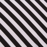 Printed Gaoli Voile - Black & White Striped