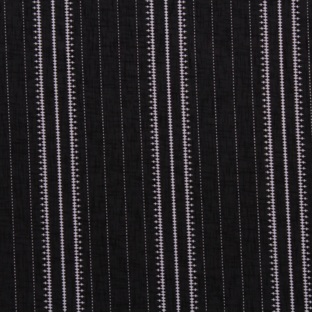 Printed Santana - Jubilant Stripes Black