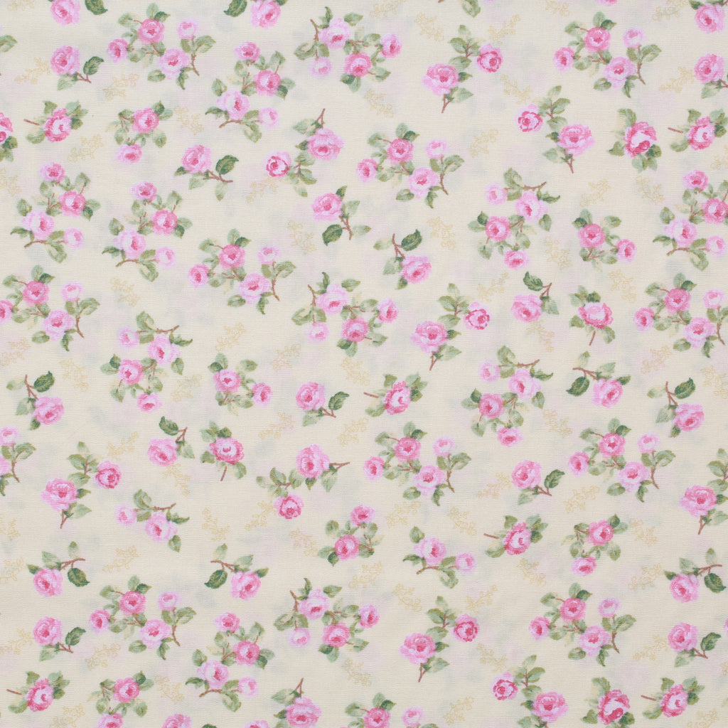 "Printed Cotton Poplin Pastel Floral, 100% Dyed Cotton, Approx 44"" Wide (112cm)"