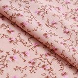 "Polyester Crepe Vintage Petals and Twigs 44"" Wide"