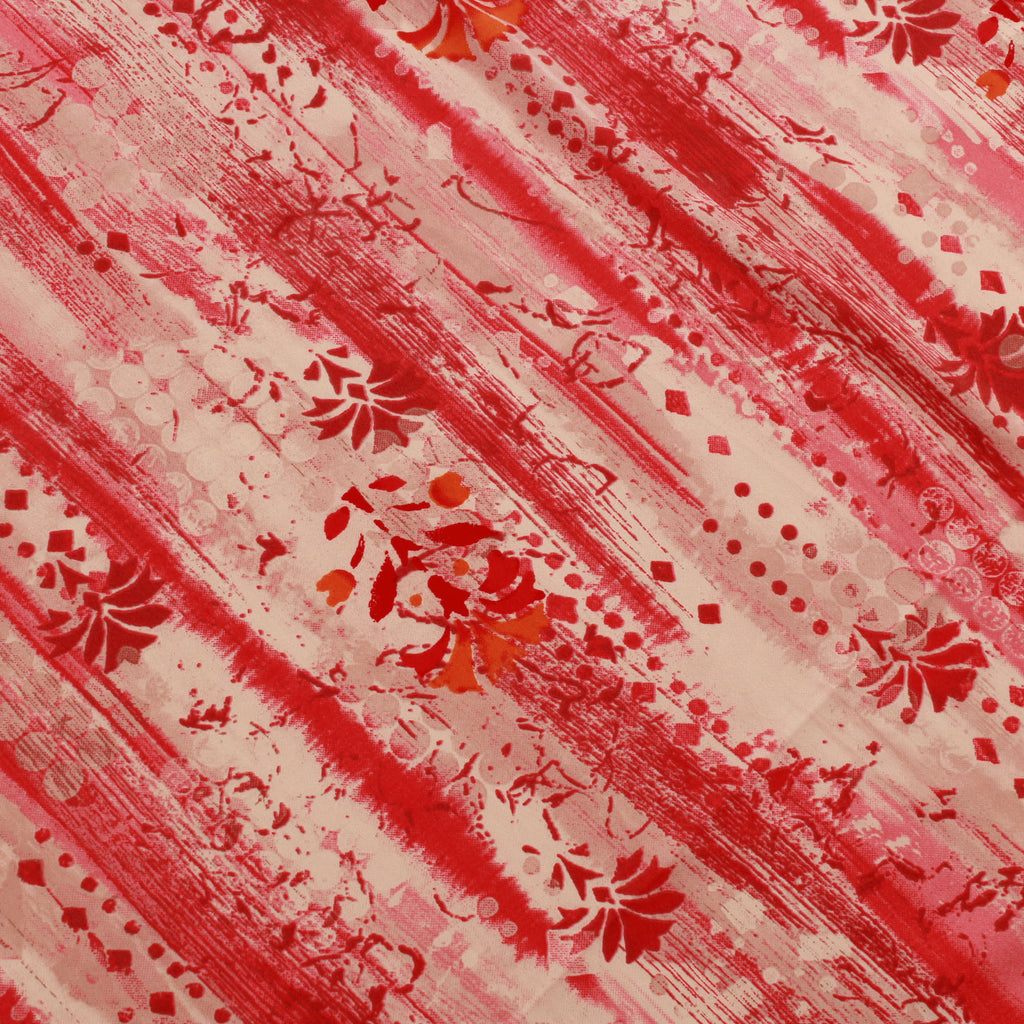 "Gradient Floral Stripes American Crepe 44"" Wide"