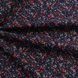 "Brushed Cotton, Floral Dream, Navy, 60"" Wide"