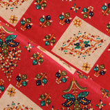 "100% Rayon Fabric, Gold Foil Ethnic Print, Premium Quality 44"" (112cm) Wide"