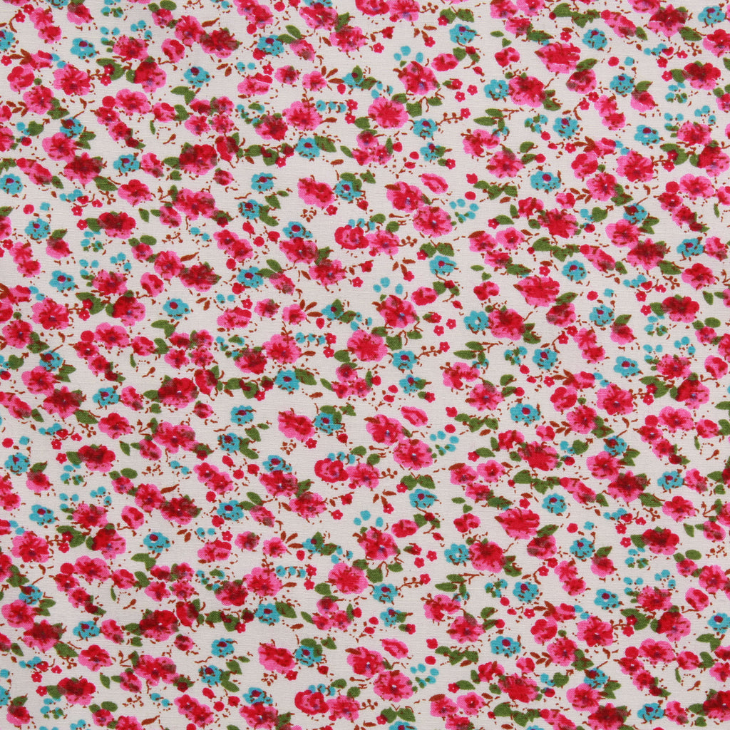 Cotton Poplin Water Art Floral