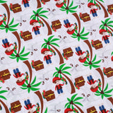 "Pirates Path Premium 100% Printed Cotton Fabric. High Quality. Approx. 44"" (112cm) Wide."