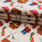 "Pirates & Parrots Premium 100% Printed Cotton Fabric. High Quality. Approx. 44"" (112cm) Wide."