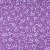 "Owls Premium 100% Printed Cotton Fabric. High Quality. Approx. 44"" (112cm) Wide. - Purple"