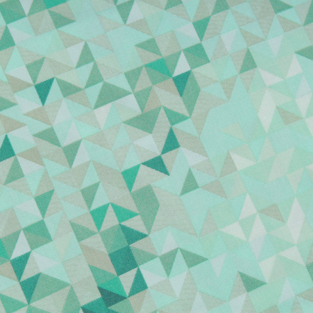 "Geometric Blocks Premium 100% Printed Cotton Fabric. High Quality. Approx. 44"" (112cm) Wide."