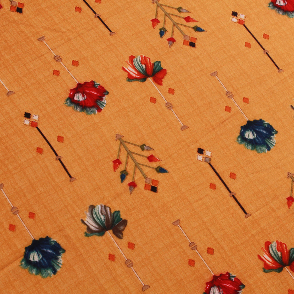 "Rayon Fabric, Petal Blossom, Spring/Summer, 44"" Wide"