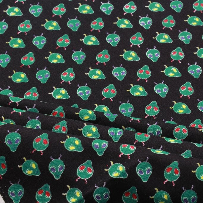 "Aliens Quilting Cotton, FF285, Lost In Space Collection, Premium Cotton, Approx 44"" (112cm) Wide"