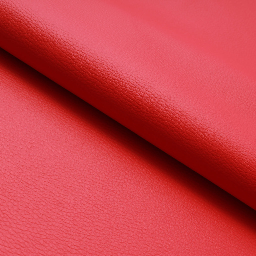 Premium Plain PVC Base Leatherette, 1.20mm Thickness - Poppy (Red)