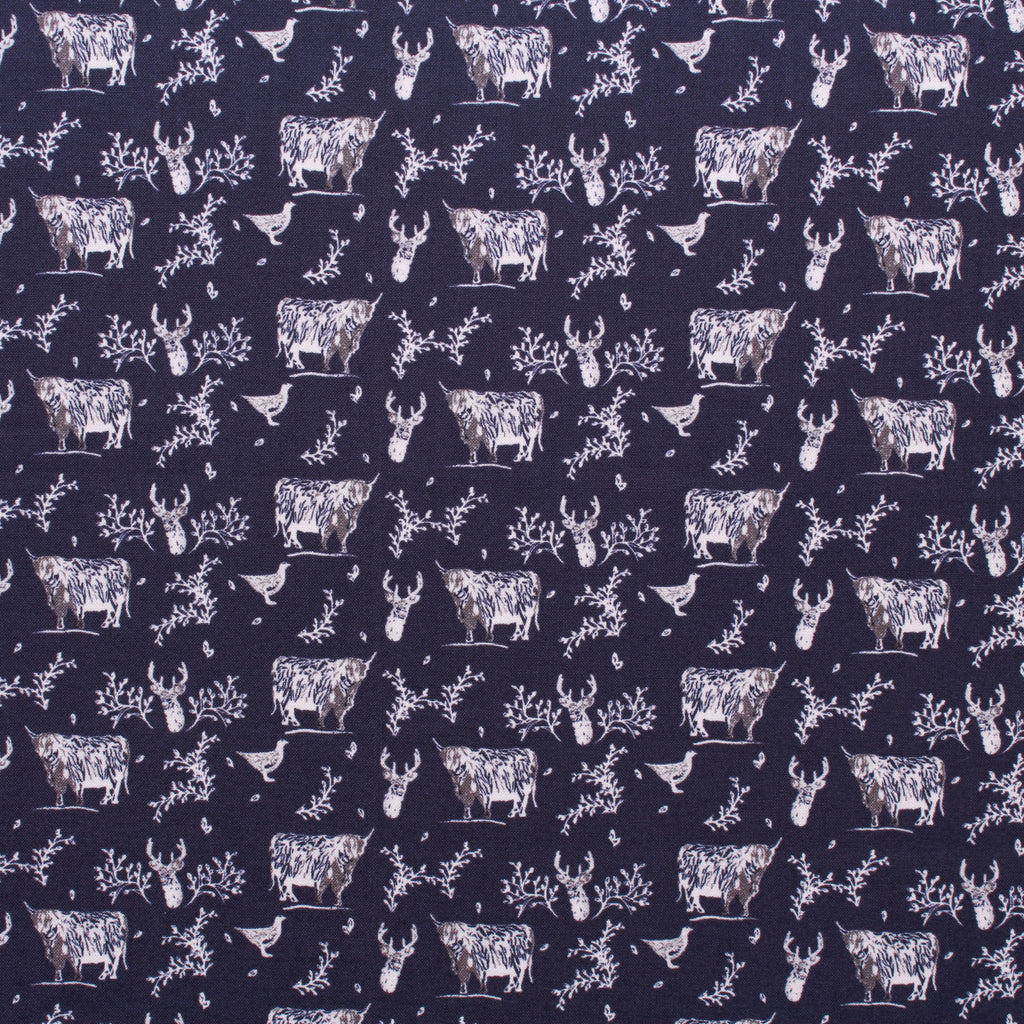 Highland Wildlife Quilting Cotton, Highland Collection