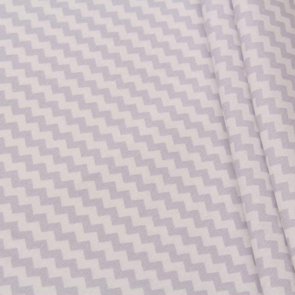 TFG Quilting Cotton, Basic Essentials, Light Grey Chevron