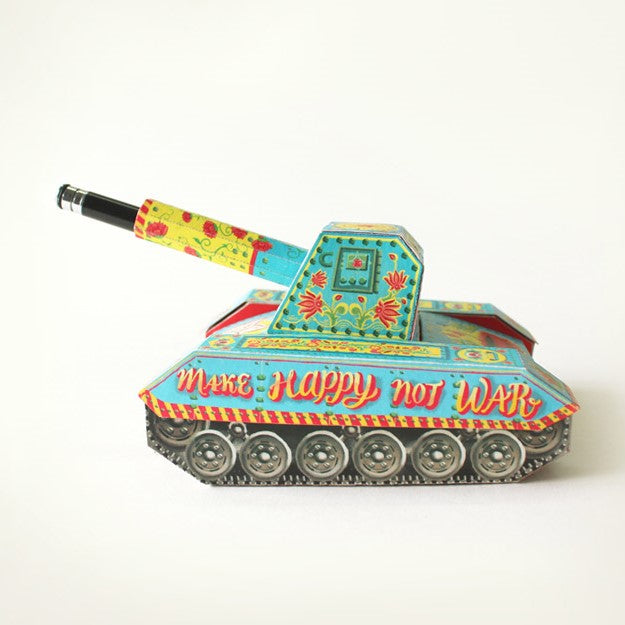 DIY Colorful Army Tank Pen Holder & Boxes