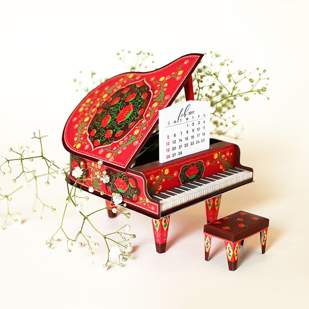 DIY Red Grand Piano Calendar 2019 & 2020