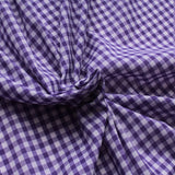 "1/4"" Small Gingham Polycotton Fabric - 65% Polyester 35% Cotton - Purple"
