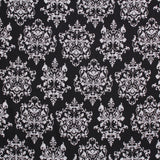 "Damask, 100% Polyester Printed Peachskin, 60GSM, Approx 60"" Wide (150cm)"