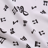 Musical Notes, 100% Printed Polyester Peachskin, 60GSM, 60