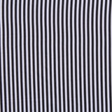 "White & Black Pinstripe, 100% Printed Polyester Peachskin, 60GSM, 60"" Wide"
